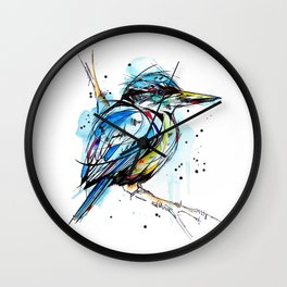 Bold Kingfisher  Wall Clock