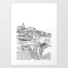 Lisbon Cityscape Art Print