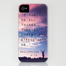 Philippians 4:13 in Nature iPhone (4, 4s) Slim Case