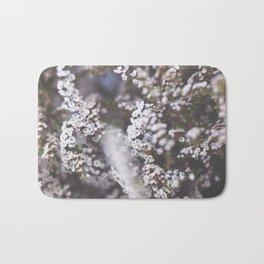 The Smallest White Flowers 01 Bath Mat