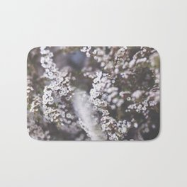 The Smallest White Flowers 01 Bath Mat