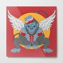 Winged Monkey Metal Print