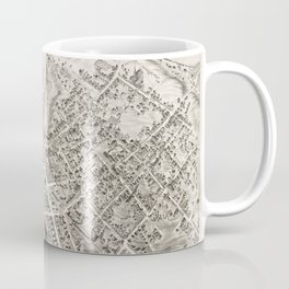 Vintage Pictorial Map of Marlborough MA (1878) Coffee Mug