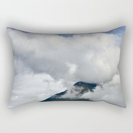 Mountain's 'Smoke Stack' of Big Puffy Clouds Rectangular Pillow