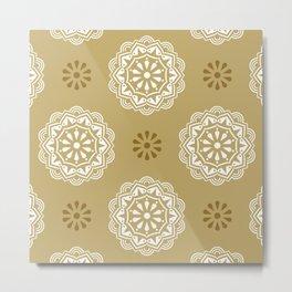 Mandala Mindfulness - Gold Metal Print