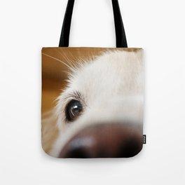 Fluffy Tetriever Close up Tote Bag