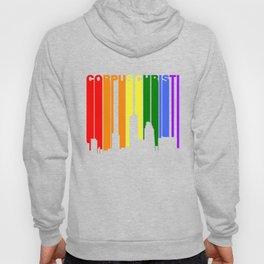 Corpus Christi Texas Gay Pride Rainbow Skyline Hoody