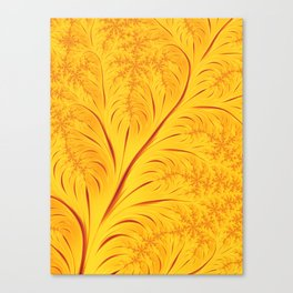 Fall Leaves Abstract Autumn Yellow Orange Gold Leaf Pattern Canvas Print