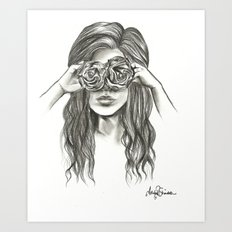 Beauty is within the eye of the beholder - By Ashley Rose Standish Art Print