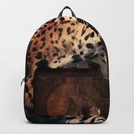 western country rustic wild leopard Backpack