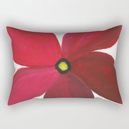 Poppy Floral Print - Original Art - Flower Print Rectangular Pillow