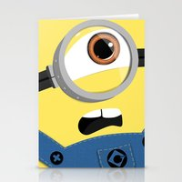 minion Stationery Cards featuring Minion by Janice Wong