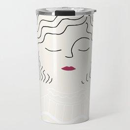 Sophie in white dress Travel Mug