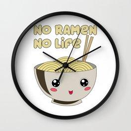 Ramen Bowl Japanese Noodles Soy Miso Noodle Soup Wall Clock