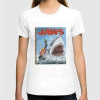 jaws T-shirts featuring Jaws by Tom McWeeney