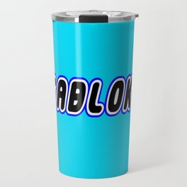 MEGABLOKS in Brick Font Logo Design [Alternate Colors] by Chillee Wilson Travel Mug