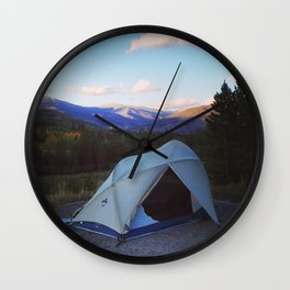 Camping lovers Wall Clock