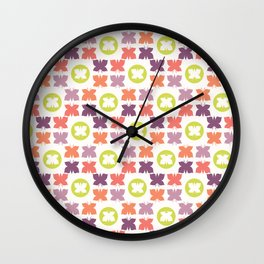 Geometric Butterflies Silhouettes Wall Clock