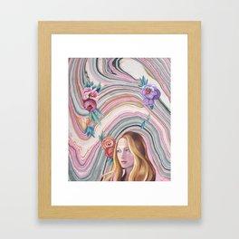 Persephone: Encircled In Spring Framed Art Print