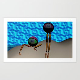 Two Eyes on an Island Art Print