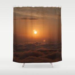 Three Sun SunSet Shower Curtain