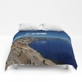 Crater Lake View with Caldera Rim Comforters