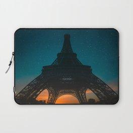Starlit Paris Sunset Laptop Sleeve