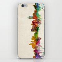 cincinnati iPhone & iPod Skins featuring Cincinnati Ohio Skyline by artPause