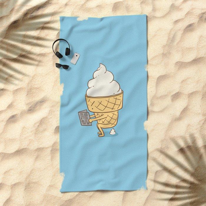Everyone Poops (Blue) Beach Towel