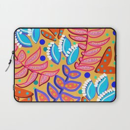 Whimsical Leaves Pattern Laptop Sleeve