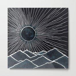 Nighttime mountains  Metal Print