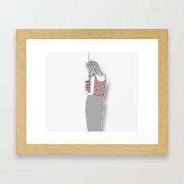 mending Framed Art Print