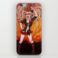 dangan ronpa iPhone & iPod Skins featuring Killer Queen by Katelyn Visnaw