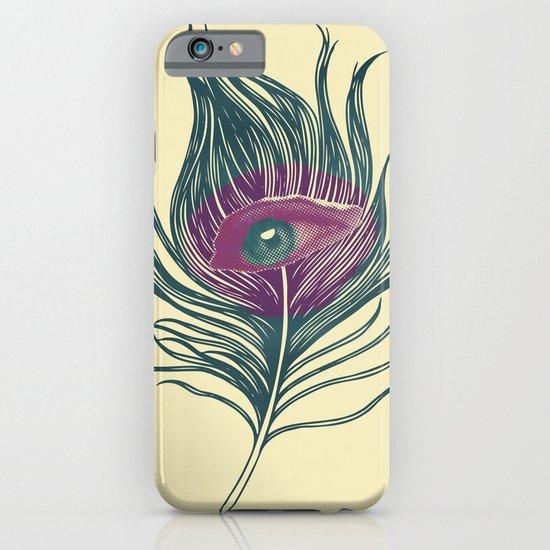 Feather in my eye iPhone & iPod Case