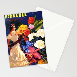 Veracruz Travel Poster Stationery Cards
