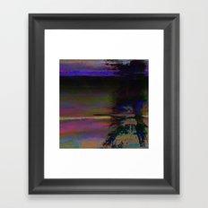 19-46-12 (Black Hole Glitch) Framed Art Print