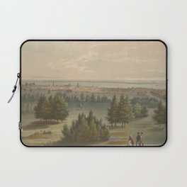 Vintage Pictorial View of Toronto Canada (1851) Laptop Sleeve