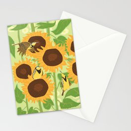 Sunbathing Meadowlarks Stationery Cards