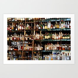BOTTLES ALL IN A ROW Art Print