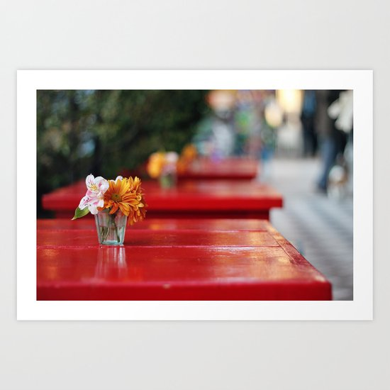 The red table Art Print