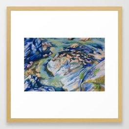 Rocks at Low Tide Framed Art Print