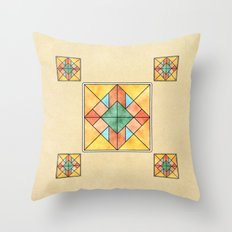 Watercolored Tiles Throw Pillow