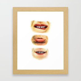 Lips with emotions Framed Art Print