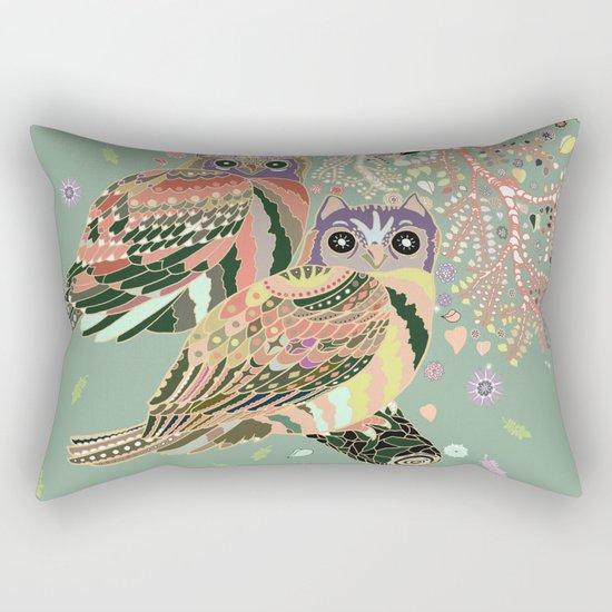 twin owls Rectangular Pillow