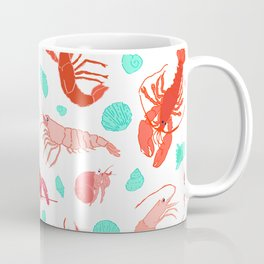 Dance of the Crustaceans in Pearl White Coffee Mug