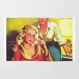 Lesbian Sex Exploitation Vintage Cover Rug