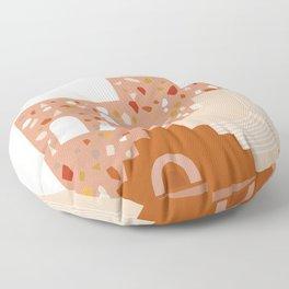 Delicate Mediterranean Illustrations Floor Pillow