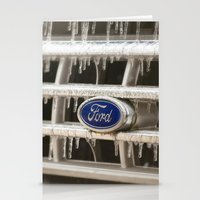 ford Stationery Cards featuring Cold Ford  by Joy Colmerauer