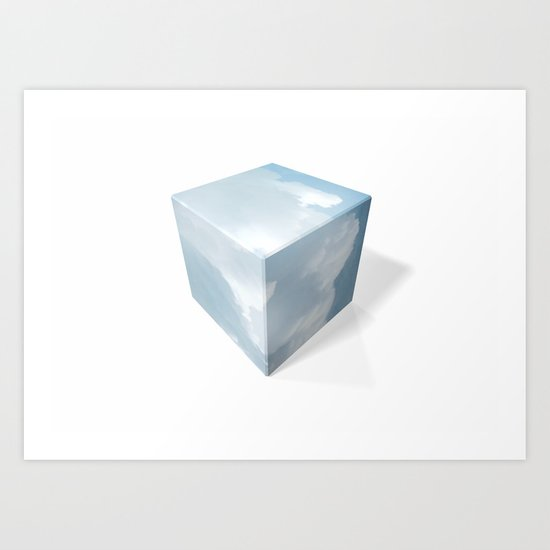 cubed clouds Art Print