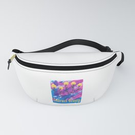 Watercolor Floral Embrace Beauty Flower Lover Fanny Pack
